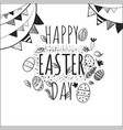happy easter eggs with different texture isolated vector image vector image
