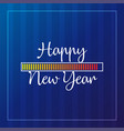 happy new year 2019 card theme yellow loading vector image vector image