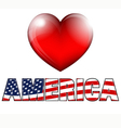 Heart AMERICA vector image