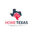 home logo design in texas vector image vector image