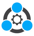 industrial collaboration flat icon symbol vector image
