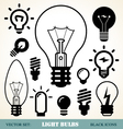Light bulbs icon set vector | Price: 1 Credit (USD $1)