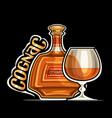 logo for cognac vector image vector image