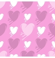 Melting hearts seamless pattern vector image vector image