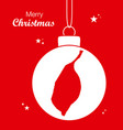 merry christmas theme with map of saint louis vector image vector image