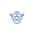 pirate line icon concept pirate flat vector image