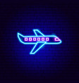 plane neon sign vector image