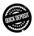 quick deposit rubber stamp vector image vector image