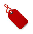 red price tag icon vector image vector image
