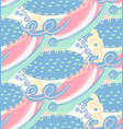 seamless pattern with hand drawn abstract vector image