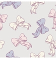 Seamless pattern with sketched bows in pastel vector image vector image