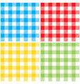 set checkered colors tablecloth seamless pattern vector image