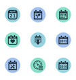 set of simple plan icons vector image