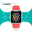 Smart watch with pink wristband vector image vector image