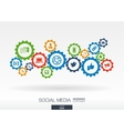 Social media mechanism concept Abstract vector image vector image