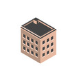 urban building isometric style icon vector image vector image