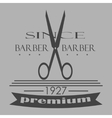 Vintage barber shop logo labels badges and vector image