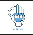 vr device virtual icon vector image vector image