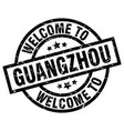 welcome to guangzhou black stamp vector image vector image