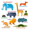 Wild and domestic animals cartoon flat icons vector image vector image