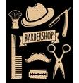Barbershop accessory set vector image