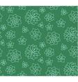 Line art succulent plant seamless pattern vector image