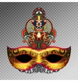 3d gold venetian carnival mask silhouette with vector image vector image