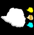 3d map of zimbabwe vector image vector image