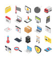 3d web icons pack vector image vector image