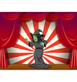 A witch standing at the stage vector image