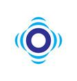 abstract circle sensor logo image vector image vector image