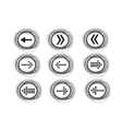 Arrow icons for web vector image