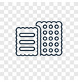 biscuit concept linear icon isolated on vector image vector image