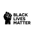 black lives matter bumper sticker symbol vector image