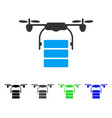 Cargo drone flat icon