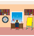 Child reading a book vector image vector image