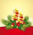 Christmas candle vector image vector image