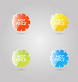 color shiny glass advertising banners on a gray vector image vector image