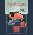 color vintage amusement park banner vector image