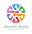 colorful element design symbol icon vector image vector image