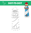 coloring page for kids cartoon lighthouse vector image vector image