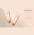 cosmetic package advertising template bb face