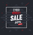 cyber monday sale banner background template vector image vector image