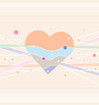 decorative heart card valentines heart happy vector image