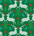embroidered prancing reindeer pattern vector image