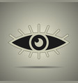 eye icon black and white vector image vector image