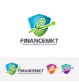 finance marketing logo design vector image vector image