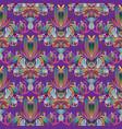 floral vintage colorful seamless pattern violet vector image vector image