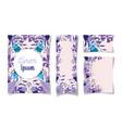 floral wedding cards flowers leaves elegant design vector image