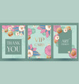 flower card or cover set wedding anniversary vector image vector image